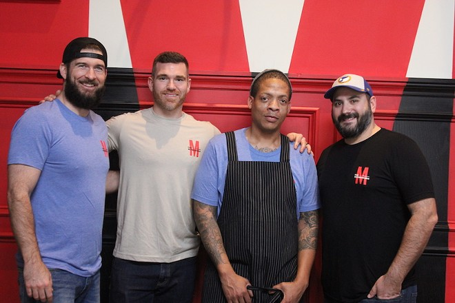 The Midwestern's brain trust, from left: Jared Ater, Stephen Savage, chef Ben Welch and Nick del Gaiso. - SARAH FENSKE