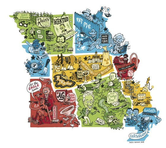 Could St. Louis become its own little state, separate from Missouri's other eight regions? - ILLUSTRATION BY KEVIN CANNON