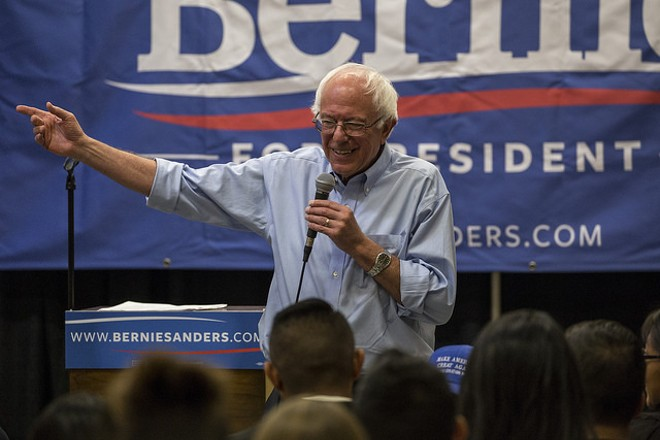 Bernie Sanders threw his support behind a 39-hour Democratic filibuster. - VIA FLICKR