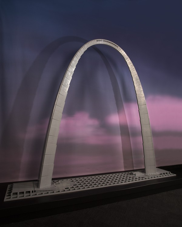 There it is: The Arch in all its Lego glory. - PHOTO COURTESY OF MUSEUM OF SCIENCE AND INDUSTRY CHICAGO