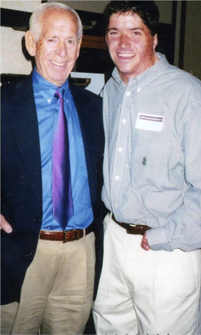 Jack Buck and John on the night of his graduation from SLU. - PHOTO COURTESY OF THE O'LEARY FAMILY