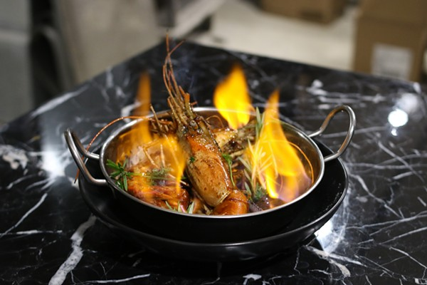 """Flaming Wicked Prawns."" - CHELSEA NEULING"