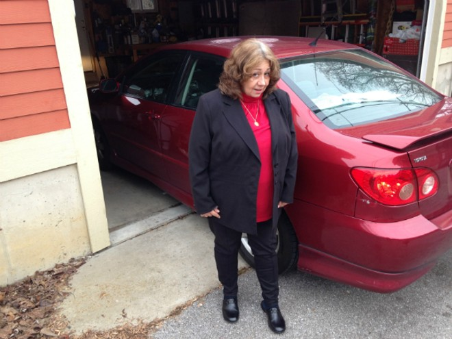 Mary Samuelson's car was damaged by a fake auto body repairman who claimed he could fix dents. - DOYLE MURPHY