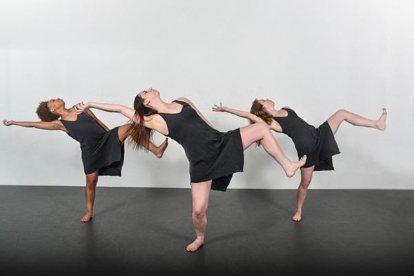 Consuming Kinetics dancers Ashreale McDowell, Carly Niehaus and Sam Gaitsch perform choreography by Lynn M. Bobzin. - PHOTO COURTESY OF DAVE MOORE PHOTOGRAPHY 2016.
