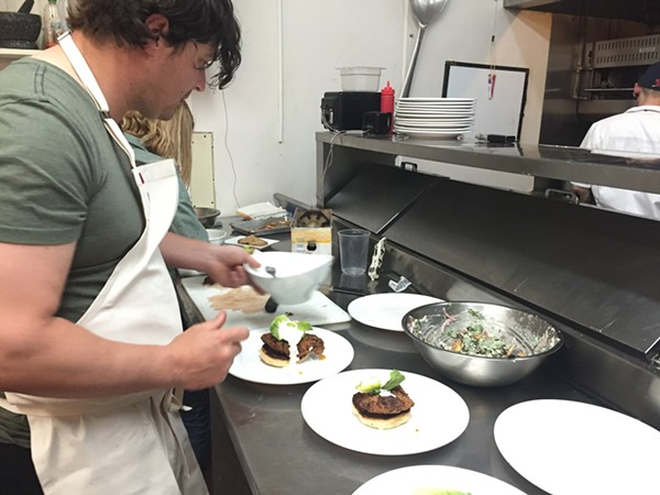 Chef Mike Randolph at work. - PHOTO BY KEVIN KORINEK