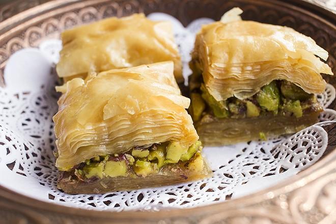 Housemade baklava delights. - PHOTO BY MABEL SUEN