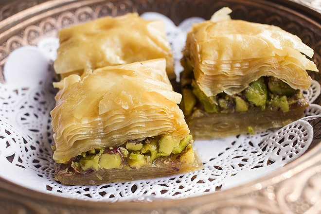 Housemade baklava delights. - PHOTO BY MABEL SUEN