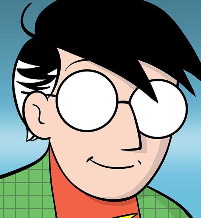 "McCloud's cartoon avatar in ""Understanding Comics."" - COURTESY OF SCOTT MCCLOUD"