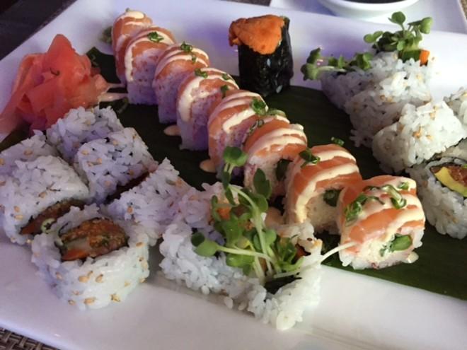 Baiku Sushi reopened last week in Midtown's Hotel Ignacio. - PHOTO BY SARAH FENSKE