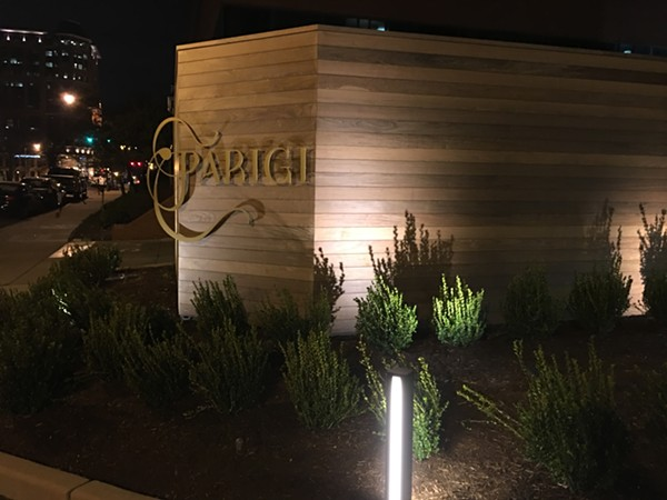 Parigi is located just off Brentwood Boulevard. - PHOTO BY LAUREN MILFORD