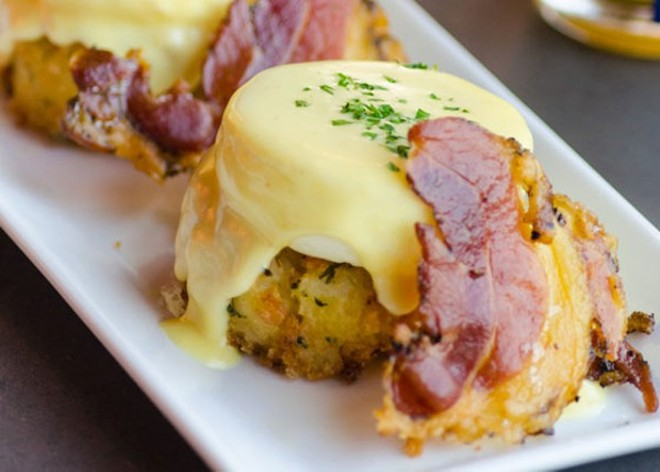 Piccione Pastry is offering a variation on eggs benedict as part of its Mother's Day brunch - PHOTO COURTESY OF PICCIONE PASTRY