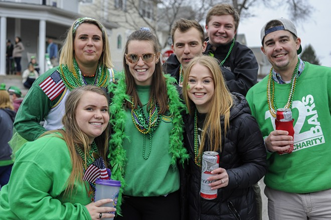 St. Patrick's Day brings the party people to Dogtown. - KELLY GLUECK