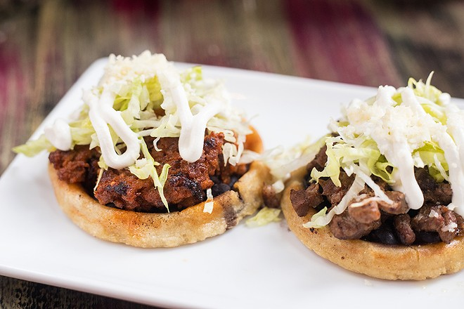 Sopes can be topped with carne asada or al pastor. - MABEL SUEN