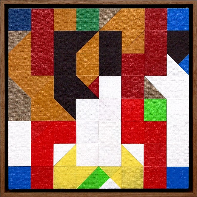 Tom Hackney's Chess Painting No. 62  (Grimme, Luuring, Ree & Krabbe vs. Duchamp, correspondence game, 1961), 2016