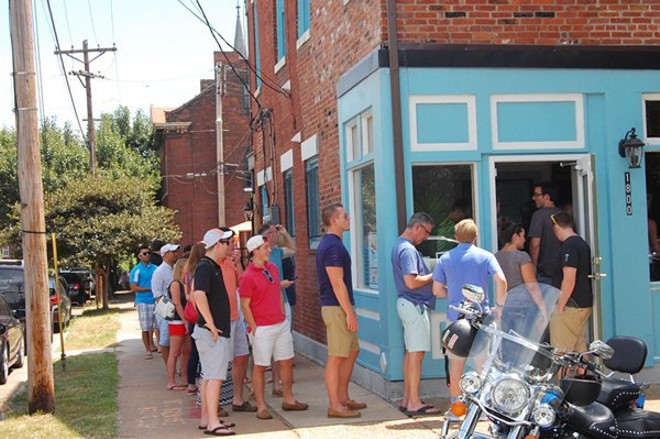 The line was out the door for Tropical Liqueurs opening weekend last summer. - KRISTIE MCCLANAHAN