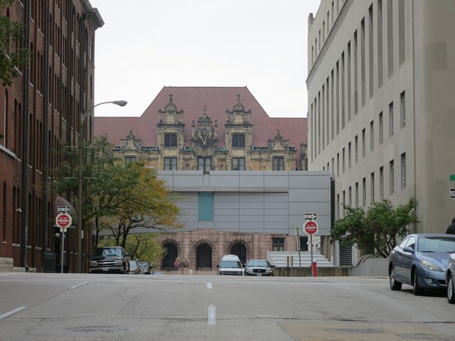 The St. Louis sheriff is responsible for transporting prisoners from the justice center to the courthouse. - PHOTO COURTESY OF FLICKR/PAUL SABLEMAN