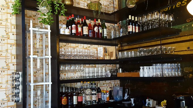 VISTA Ramen's bar offers sake, spirits, beers and wine. Coffee and tea are also offered. General Manager Aaron Stovall says VISTA hopes to bring in more drinks as time goes by. - KAVAHN MANSOURI