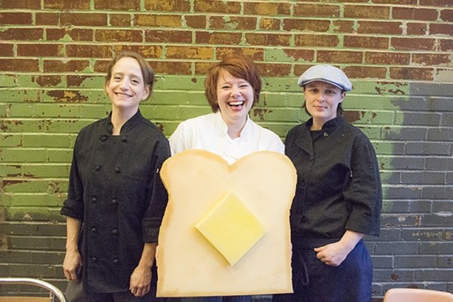 Rachel Moeller, Amanda Geimer and Colleen Clawson of Milque Toast Bar. - MABEL SUEN