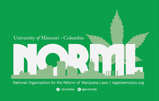 MU NORML's new logo, which has been rejected by the university's Office of Licensing & Trademarks.