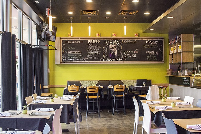 Peno has completely transformed the space that previously held Pizzino. - PHOTO BY MABEL SUEN