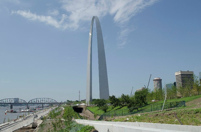 The view of the Arch from the renovated northern grounds of the park. The renovation of the entire park is slated to be finished in 2017. - KAVAHN MANSOURI