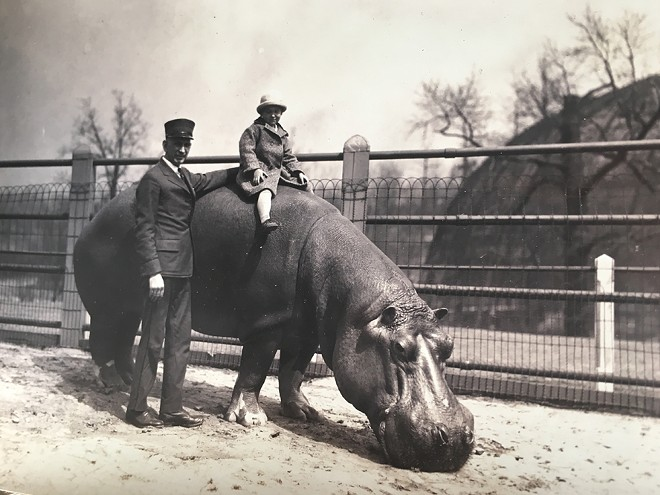 The Saint Louis Zoo was a very different place 100 years ago. - PHOTOS BY O.C. CONKLING, COURTESY OF CHELSEA MILLER