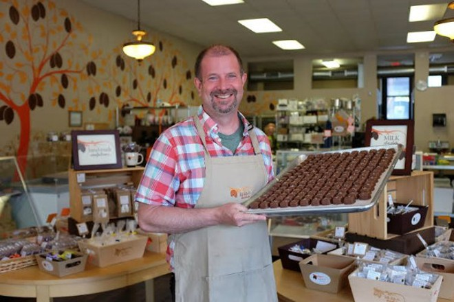 Kakao's founder and chief chocolatier Brian Pelletier. - HOLLY RAVAZZOLO
