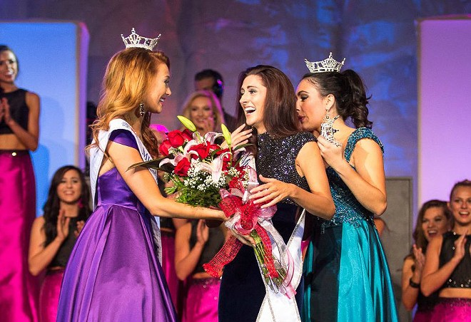 Erin O'Flaherty (center) was crowned Miss Missouri on June 18. - DAVID PICKERING PHOTOGRAPHY