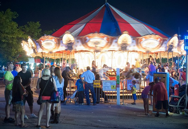 The midway at the O'Fallon Heritage & Freedom Fest.