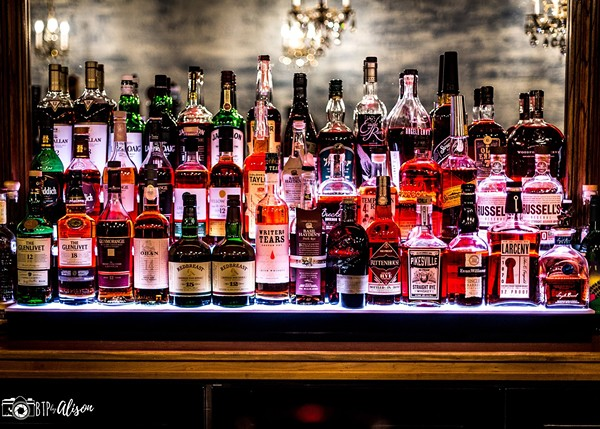80 whiskeys anchor the bar, although there is a full list of other spirits, too. - BTP BY ALISON
