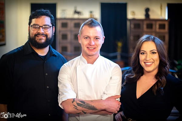Bar manager Carlos Rivas, chef Stephan Ledbetter and general manager Olivia Vitali anchor a team of experienced professionals. - BTP BY ALISON