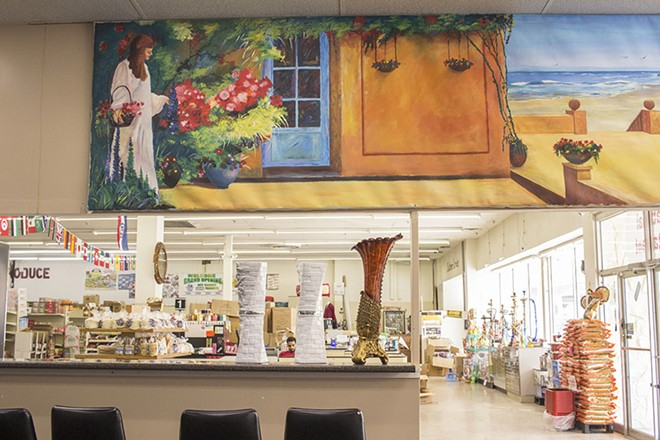 A mural takes up one wall in the dining area. - PHOTO BY MABEL SUEN