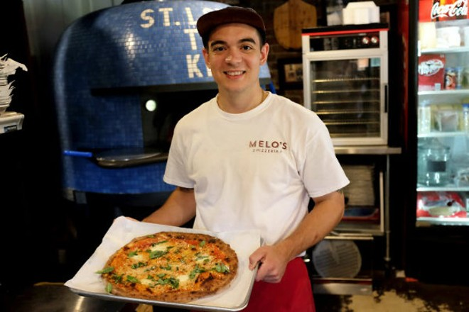 Joey Valenza is Melo's pizzaiola from the north. - HOLLY RAVAZZOLO