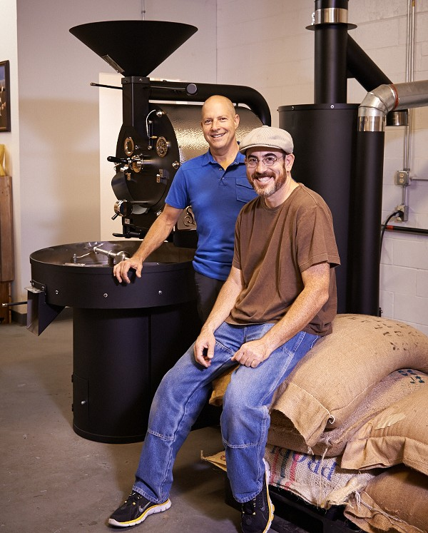 David Pocost and Peter Cohen are moving their roastery operations to Brentwood. - GREG BARTH PHOTOGRAPHY