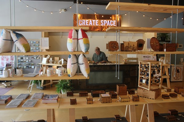 Create Space has become a home for budding entrepreneurs, but a University City grant is caught in a political battle. - PHOTO BY DOYLE MURPHY