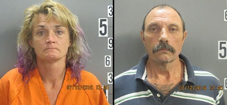 Tanya Hopper and Larry Webster - COURTESY OF THE JASPER COUNTY SHERIFF