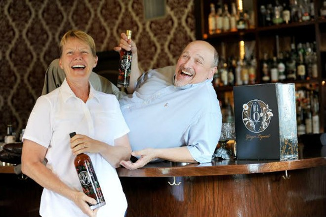Kathy Kuper and Bill Foster, founders of Big O Ginger Liqueur. - HOLLY RAVAZZOLO