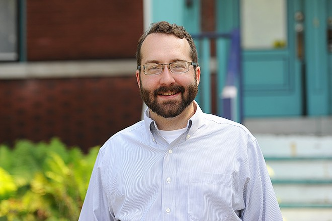 Matt Carroll-Schmidt, a candidate in the 6th Ward. - PHOTO BY HOLLY RAVAZZOLO