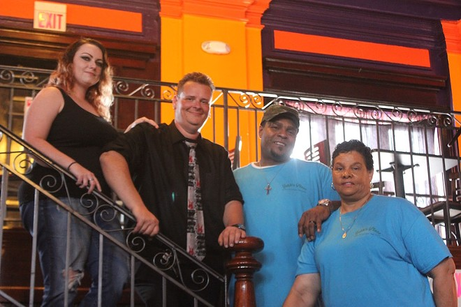 From left: Stephanie Hall, Tim Warren, Marcus Love and Mary Love. - PHOTO BY SARAH FENSKE