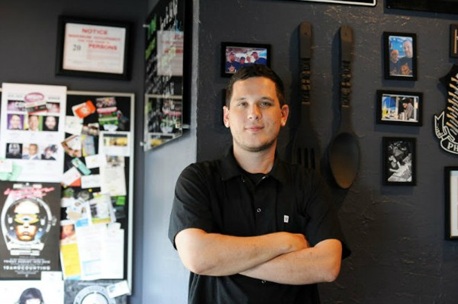 Brian Coltrain of Guerrilla Street Food. - HOLLY RAVAZZOLO