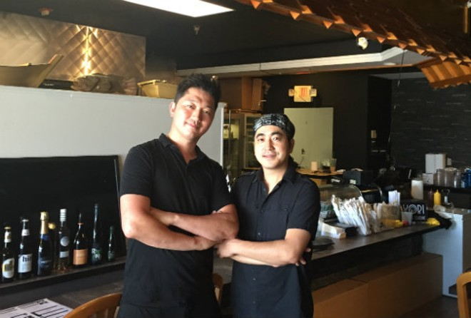 Jay Moon, left, and Sae Yeob Kim, right, are the owners of Nori. - PHOTO BY EMILY MCCARTER