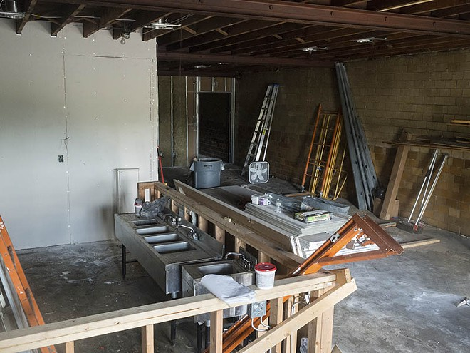 The space is still under construction. - PHOTO BY AUSTIN ROBERTS