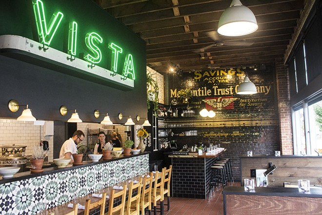 The striking interior of Vista Ramen. - PHOTO BY MABEL SUEN