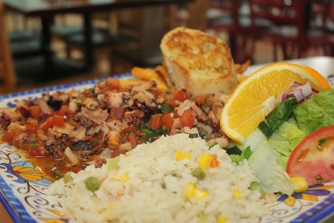 Pulpos al Gusto, served Ranchero style. - PHOTO BY SARAH FENSKE