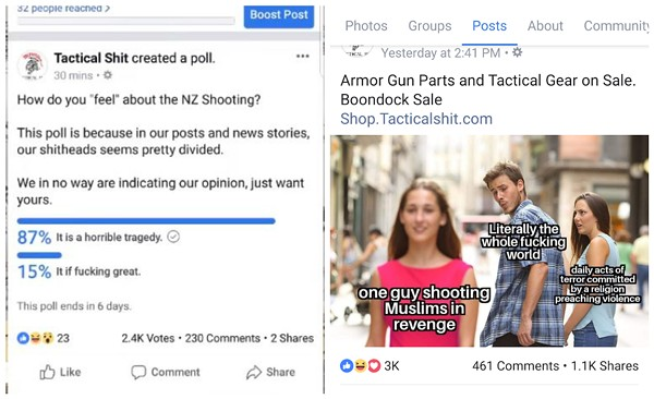 Tactical Shit, of course, doesn't have an opinion. - SCREENSHOTS VIA YOUTUBE/FACEBOOK
