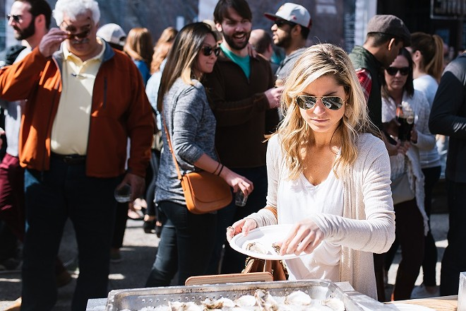 Schlafly's Stout & Oyster Festival is the briny feast of your dreams. - SPENCER PERNIKOFF