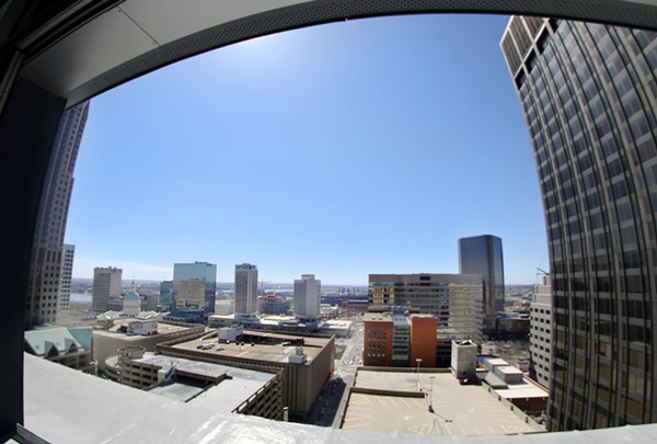 The view from Form Skybar via our fish-eye lens. - CHELSEA NEULING