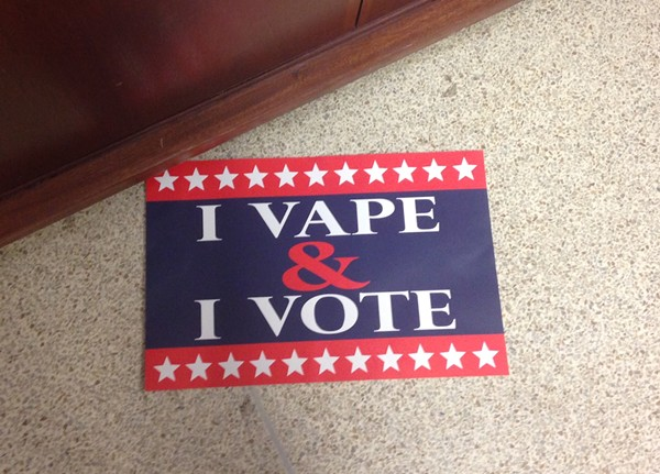 Vapors are campaigning against a proposed change in St. Louis County law to raise the buying age to 21. - PHOTO BY DOYLE MURPHY