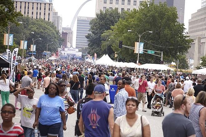 Taste of St. Louis in 2013, its last year downtown. - STEVE TRUESDELL