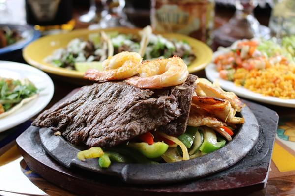 Fajita La Bamba- steak, grilled chicken, shrimp and pastor. - CHELSEA NEULING